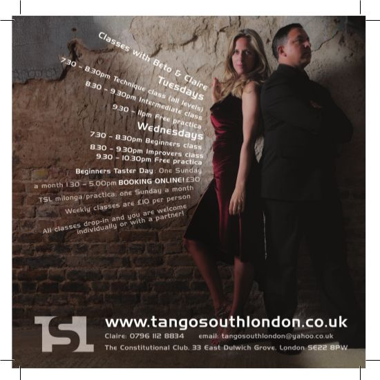 tango south london flyer logo reverse